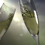 New Year's Eve toast